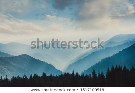 Landschap lagen bergen natuur berg Stockfoto © Juhku