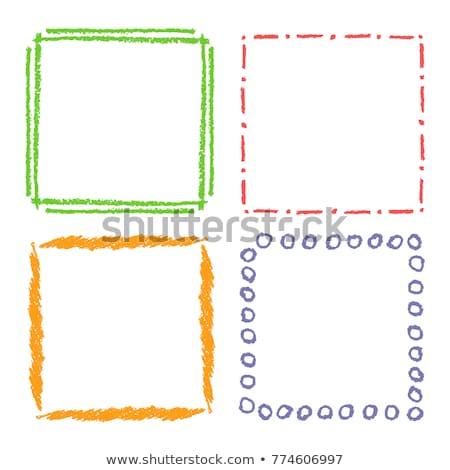 Colorful Hand-drawn rectangular frame set Stock photo © Blue_daemon
