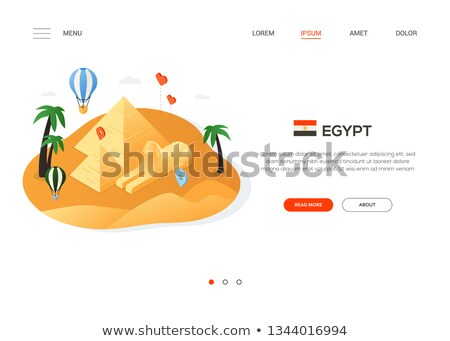 visit egypt   modern colorful isometric web banner stock photo © decorwithme