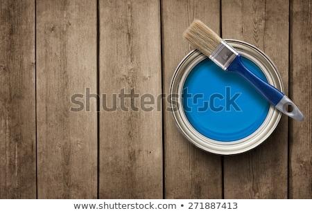старые · интерьер · окрашенный · синий · текстуры - Сток-фото © bogumil