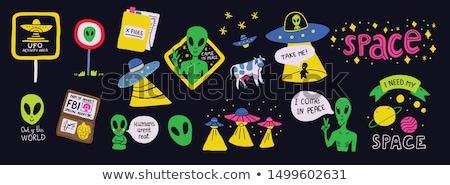 Ufo galaksi örnek gökyüzü teknoloji arka plan Stok fotoğraf © colematt