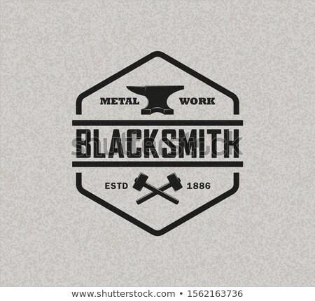 Color vintage emblema industria vector Foto stock © netkov1