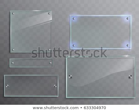 üveg fogkő hirdetőtábla copy space szoba saját Stock fotó © nicemonkey