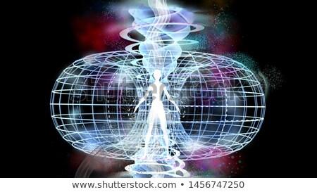 Man Spiritual Field Illustration Stock photo © lenm