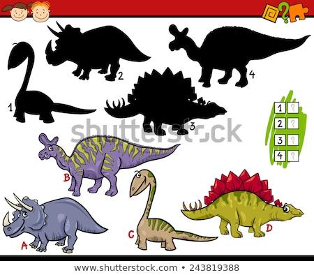Dinosauro accoppiamento ombra gioco modello illustrazione Foto d'archivio © colematt