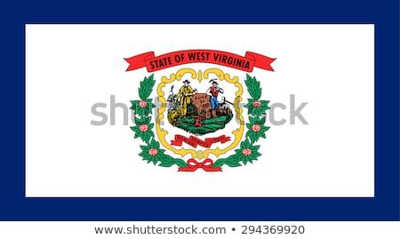 Zászló Nyugat-Virginia száraz Föld föld textúra Stock fotó © grafvision