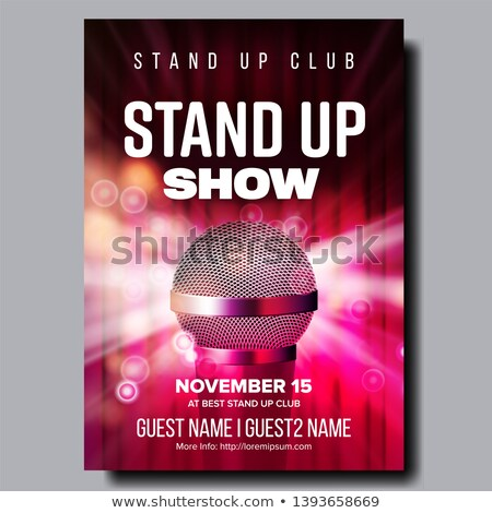 Colorful Poster Of Best Stand Up Club Show Vector Stock photo © pikepicture