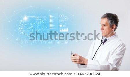 Tonen test gevolg arts gezondheid Stockfoto © ra2studio