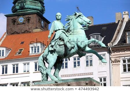 Lovas szobor Koppenhága tér épület város Stock fotó © borisb17