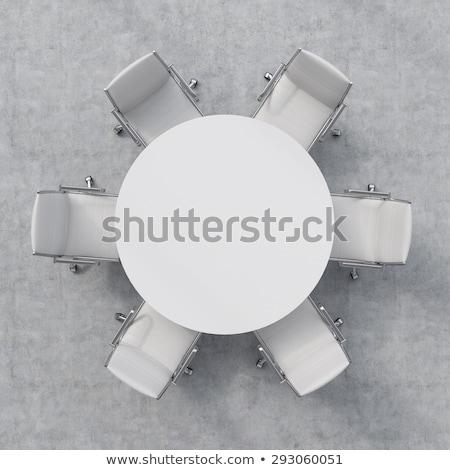 Chairs around Round Table Stock photo © Dazdraperma