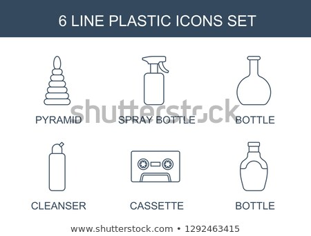 Full Plastic Spray Bottle Cleaning Liquid Vector Stock photo © pikepicture