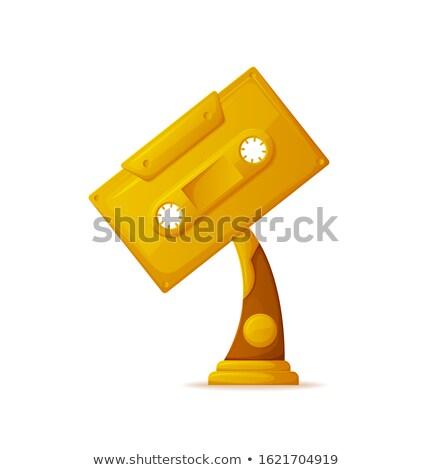 трофей музыканта кассету вектора вознаграждать Музыканты Сток-фото © robuart