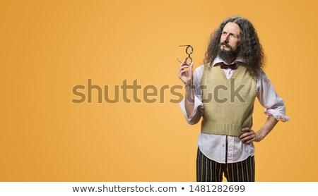 Portrait impair inventeur joyeux sourire Photo stock © majdansky