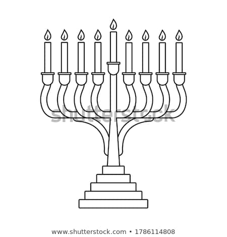 Menorah Casting Stock photo © albund