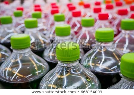 Szénsavas zöld üdítőital műanyag üveg kettő Stock fotó © albund