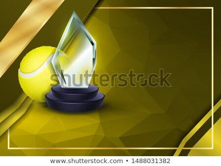 Tenis sertifika diploma cam ganimet vektör Stok fotoğraf © pikepicture