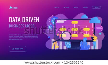 data driven business model concept landing page stock photo © rastudio