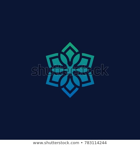 linear ornament circle flower abstract vector logo design template decoration business icon company stock photo © kyryloff