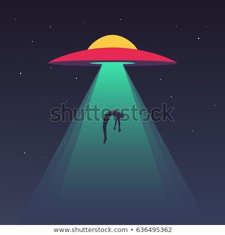 exóticas · ufo · ilustración · hombre · noche · silueta - foto stock © jossdiim