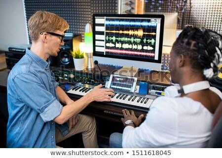 2 小さな 多文化の ミュージシャン 新しい ストックフォト © pressmaster