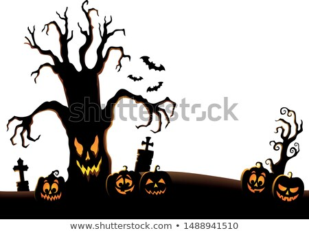 Spooky tree silhouette topic image 2 Stock photo © clairev