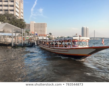 Boats on the river in Bangkok Stock photo © galitskaya