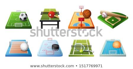 3D felszerlés különböző sportok izolált ikon gyűjtemény Stock fotó © MarySan