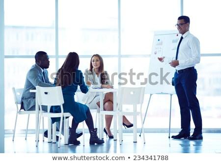 Affaires formation séminaire homme femme Photo stock © robuart