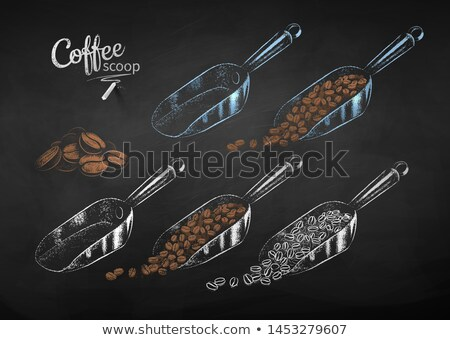 セット 金属 コーヒー 豆 ベクトル チョーク ストックフォト © Sonya_illustrations