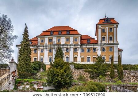 Zamek Czechy Hill niebo architektury Europie Zdjęcia stock © borisb17