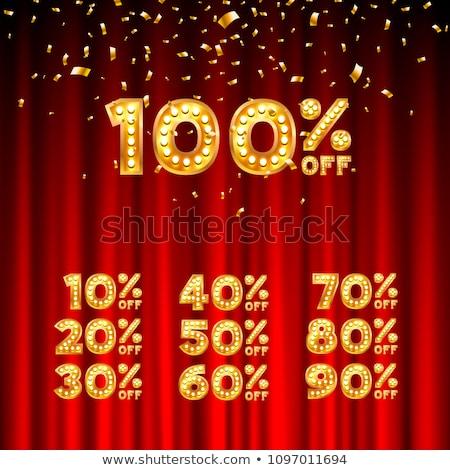 Karácsony szuper ár 20 százalék árengedmény Stock fotó © robuart