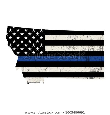 Montana policji wsparcia banderą ilustracja Zdjęcia stock © enterlinedesign