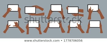Person holding tablet, social network concept Stock photo © ra2studio