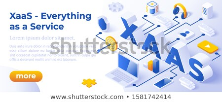 Xaas - Isometric Vector Illustration Website Banner Layout Template Foto stock © Tashatuvango