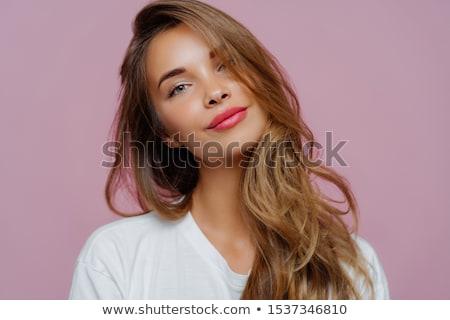 Ritratto soddisfatto giovani femminile modello Foto d'archivio © vkstudio