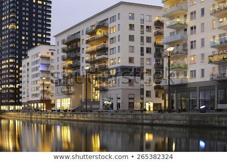 白 現代 アパート 住宅 ベルリン ストックフォト © elxeneize