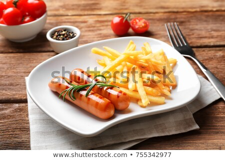 French fries and sausages Stock photo © grafvision