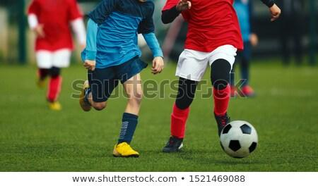 дети спортивная команда зеленый ребенка Сток-фото © matimix