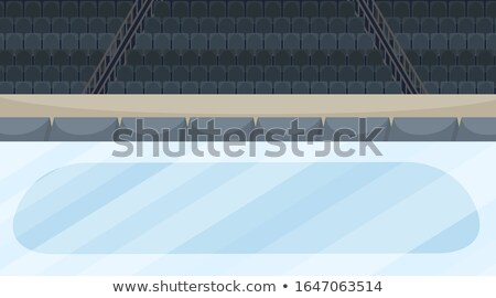 Background scene of iceskating arena with stadium Stock photo © bluering