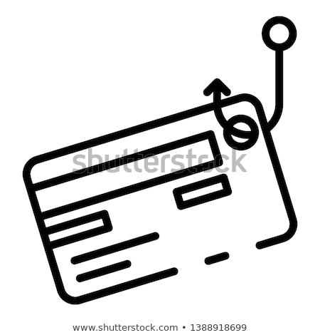 Tarjeta de crédito robo icono vector ilustración Foto stock © pikepicture