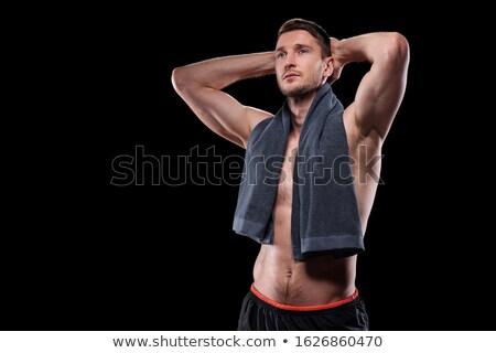Guapo muscular sin camisa masculina atleta manos Foto stock © pressmaster