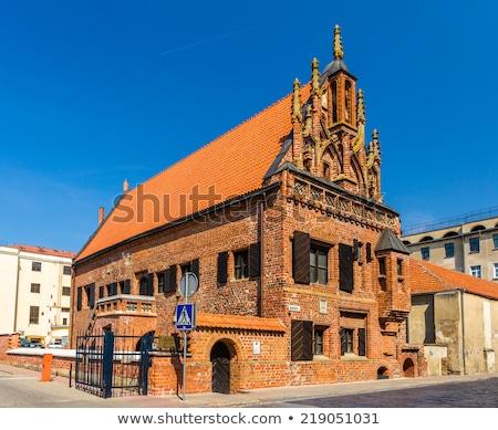 дома Литва один оригинальный Готский зданий Сток-фото © borisb17