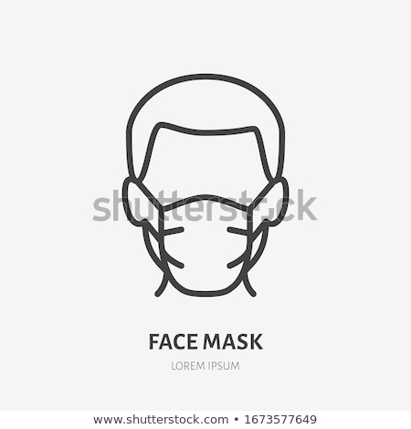 Medical Surgical Mask. Face care Cover, Respiratory infection protective. Vector Stock photo © Andrei_