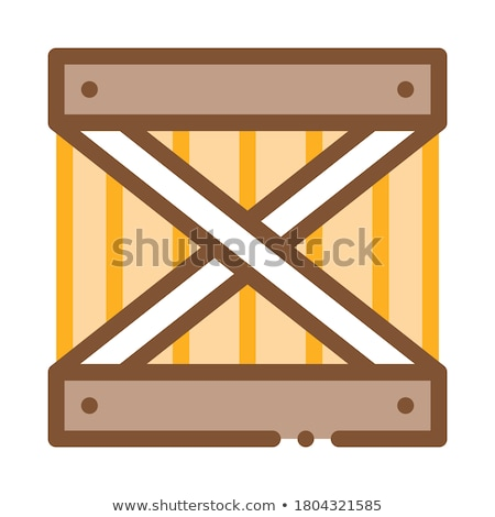 Hout verbieden icon vector schets illustratie Stockfoto © pikepicture