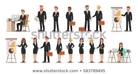 Rajz üzletemberek nők csoport betűk különböző Stock fotó © Voysla