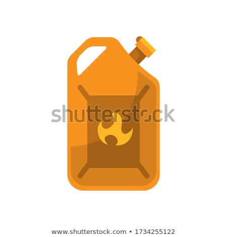 Canister of gasoline. Fuel holder in retro design. Vector Illustration isolated on white background. Stock photo © designer_things