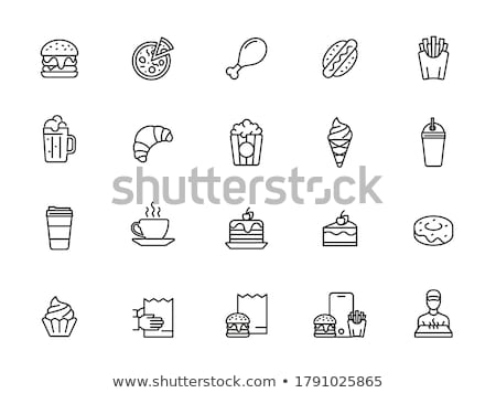 batata · chips · blanco · aislado · alimentos - foto stock © fanfo