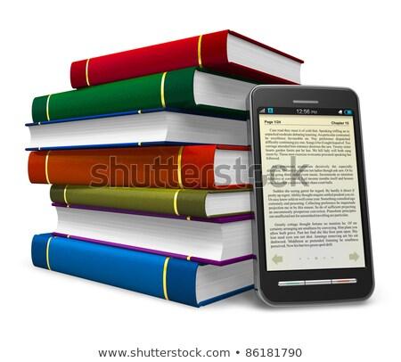 colorido · libros · electrónico · libro · lector - foto stock © AndreyKr