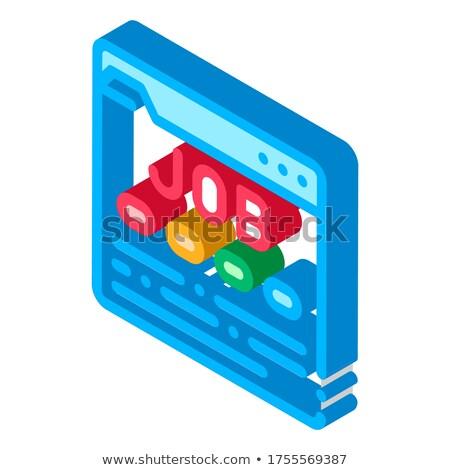 Negócio recurso isométrica ícone Foto stock © pikepicture