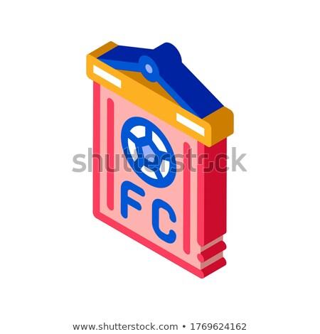 サッカー コマンド フラグ アイソメトリック アイコン ベクトル ストックフォト © pikepicture